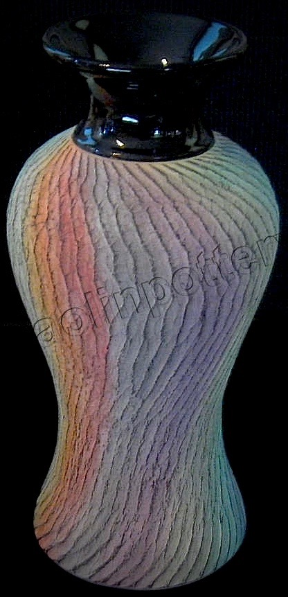 Kaolin Pottery Gt. Barrington, MA ceramic art gallery contemporary colorful vase