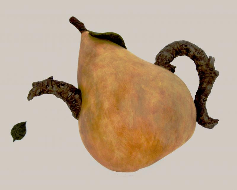 Pear Teapot (wall hanging)